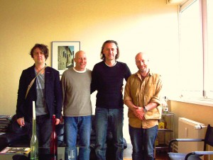 David Rhodes, Ged Lynch, Richard Evans und ich